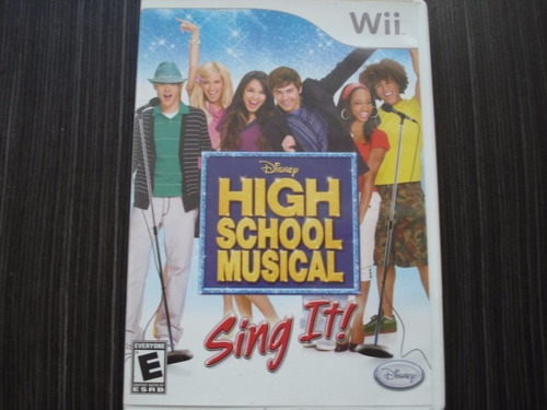 high school musical sing it nintendo wii y wii u