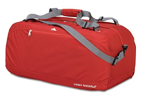 "high sierra 36 ""pack-n-go duffel, carmine red / carmine"