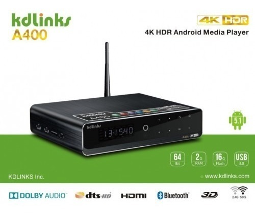 Highend Media Player Kdlinks A400 4k Hdr10+ Dolby Atmos 4tb