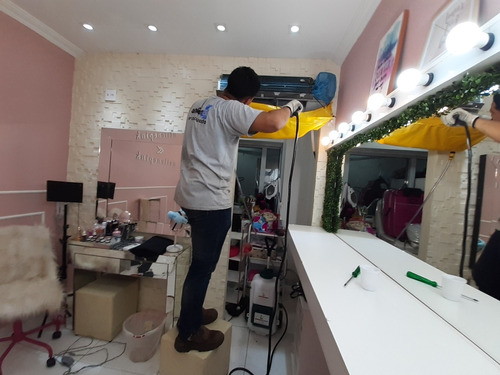 higienização e conserto de arcondicionado.