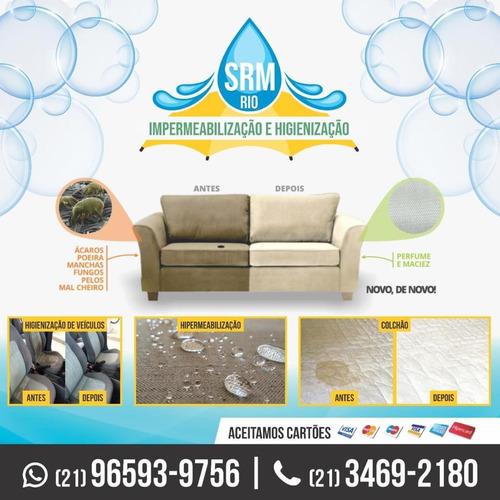 higienização e impermeabilização de estofados em geral