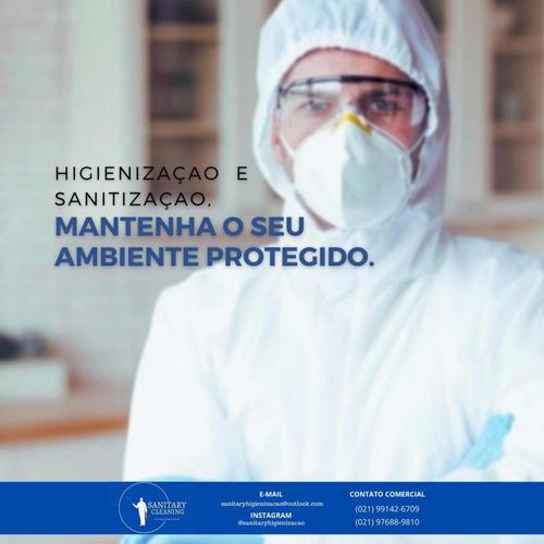 higienização e sanitização de ambientes