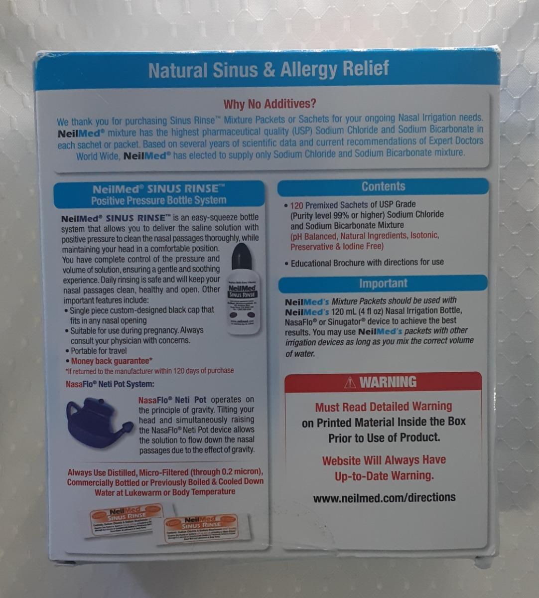 Higienizador Nasal Natural Sinus Rinse Neilmed Kids Criança