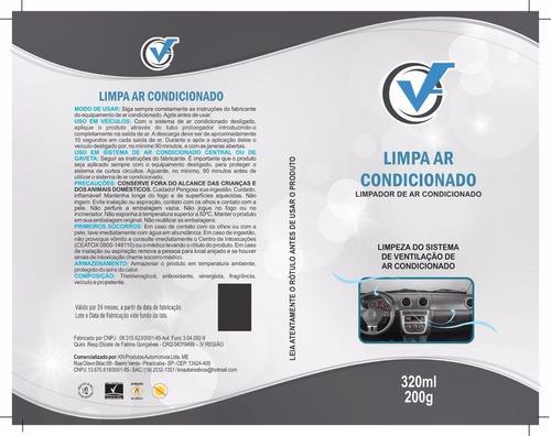 higienizador spray 320ml limpa ar c/ sonda carro novo