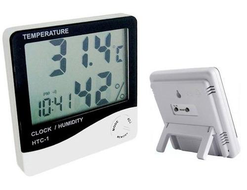 higrometro digital termometro medidor de humedad reloj eg