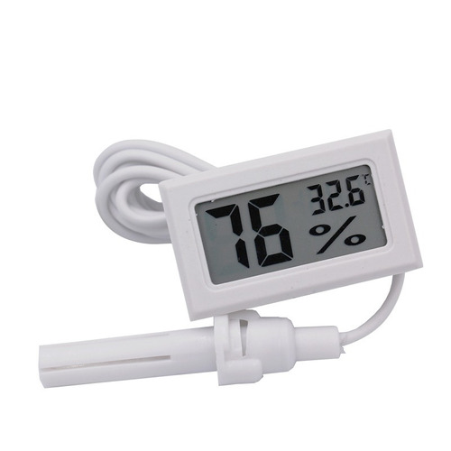 higrómetro medidor de humedad digital con termómetro y sonda
