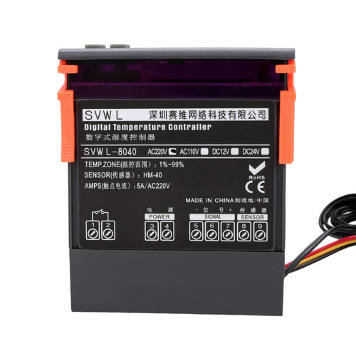 higrostato termostato digital wh8040 una salida