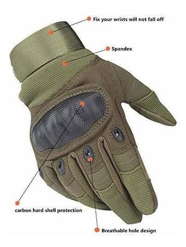 hikeman militar táctico militar de goma nudillo duro guantes