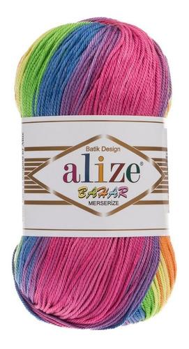 hilaza de algodón alize bahar matizado 100 gramos