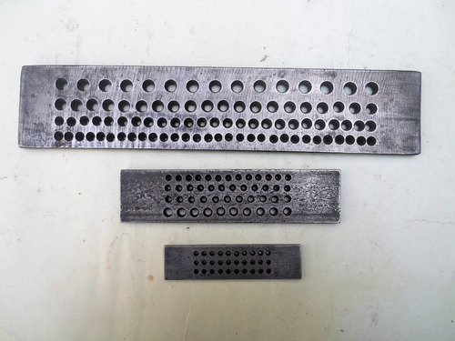 hileras para joyería en acero desde 0.3 hasta 7.2 mm