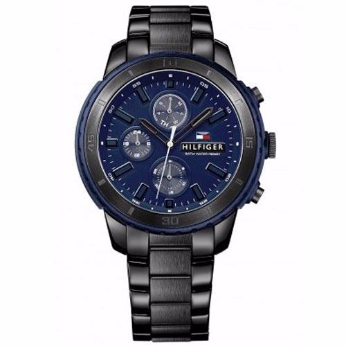 81fc8720bd8 Relógio Tommy Hilfiger Masculino Aço Preto E Azul - 1791190 - R  900 ...