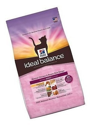 hill \ 's ideal balance natural cat food adulto pollo seco
