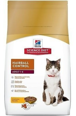 hill \ 's science diet adult hairball control receta de pol