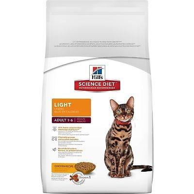 hill \ 's science diet adult light, comida para gatos, rece