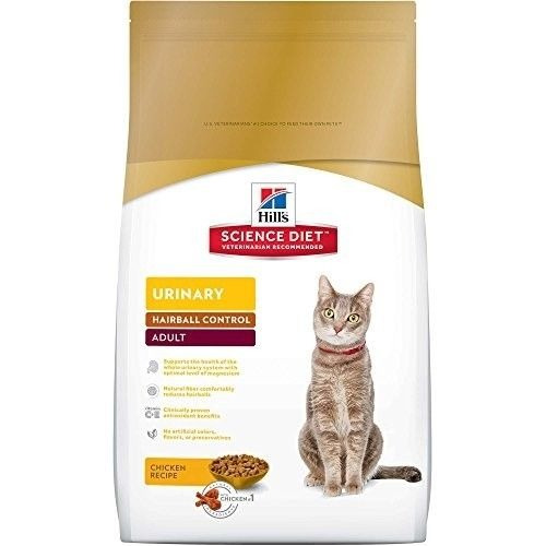 hill \ 's science diet amp urinario hairball control cat fo