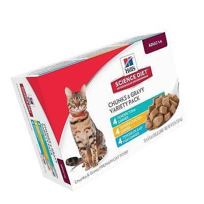 hill \ 's science diet - comida para gatos húmeda para adul