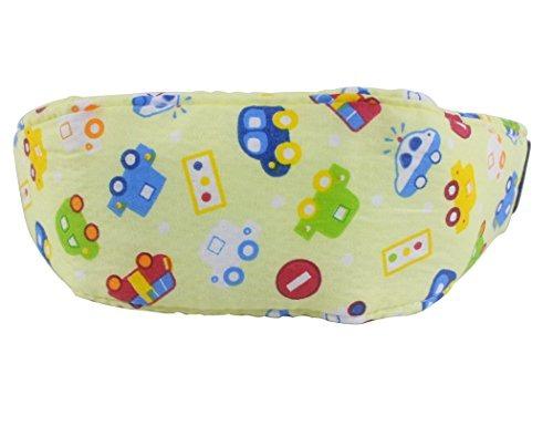 Hillento baby kids asiento de coche cuello cabeza de alivio de la banda de apoyo con cintur/ón ajustable ofrece protecci/ón y seguridad para los ni/ños coche azul y coche amarillo
