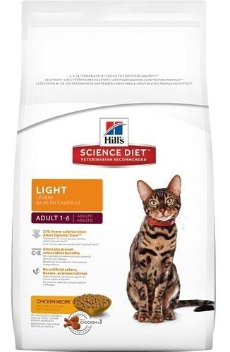hills feline adult light x 7 lb (gatos adultos light)