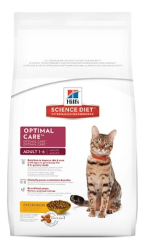 hills gato adulto optimal care 16lb enviogratis*