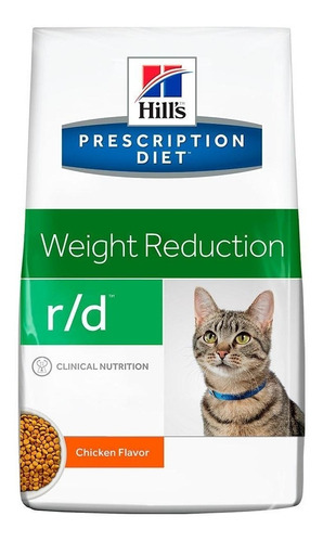 hills r/d weight reduction 3.85 kg - alimento para gato