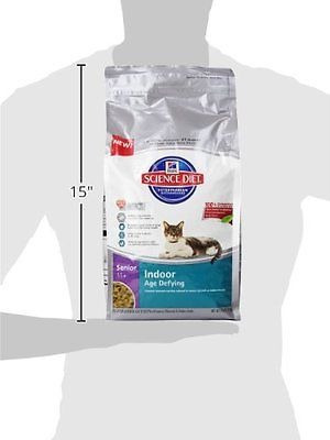 hill`s science diet senior 11+ indoor age defying cat food,