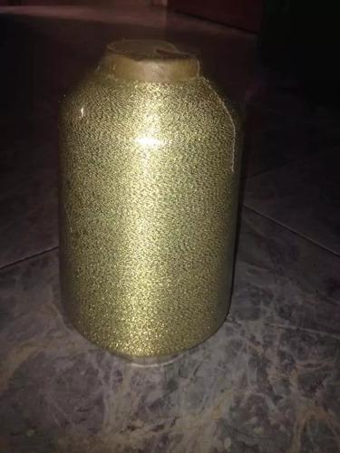 hilo de bordar dorado metalizado