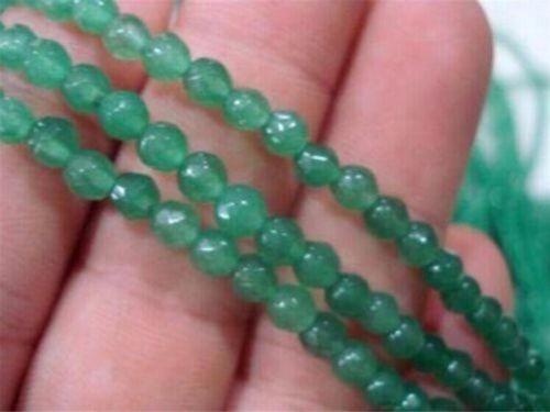 hilo de esmeralda facetada 4mm 38 cm para collar o pulsera