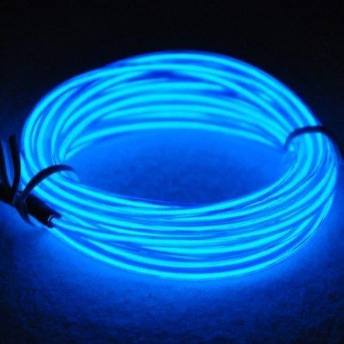 hilo de neon led 3 metros a pila azul rojo naranja frio