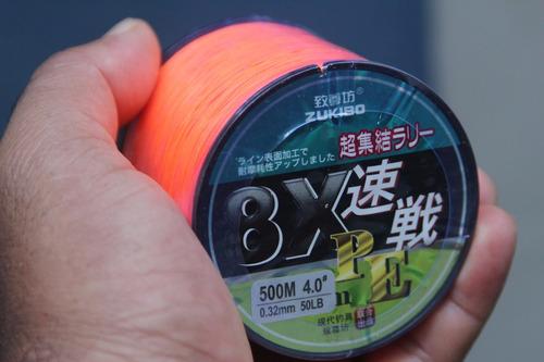 hilo de pesca multifilamento japones 500 mt. 8 strands