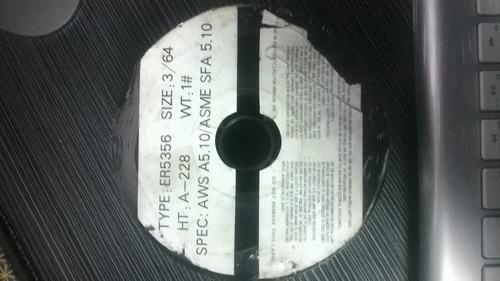 hilo de soldadura tipo er5356 size: 3/64 spec: aws a5.10