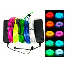 Hilo De Tira Led Neon 3 Metros Wire Cable Luminoso Flexible Para Fiestas Decoracion Bailes Estudio Creatividad