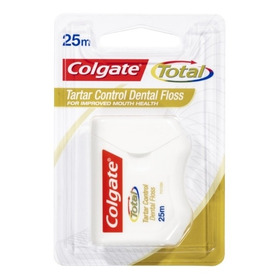 Hilo Dental Colgate Total Tartar Floss 25mt, Elimina Sarro