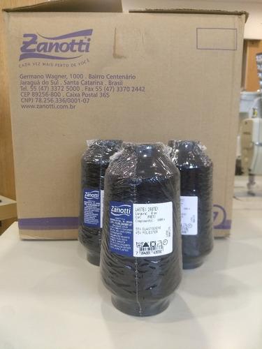 hilo elastico negro caja 40 conos de 1000 mts zanotti