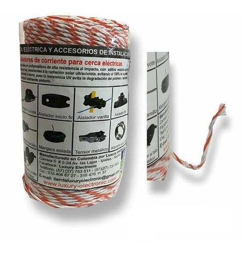 hilo electro plástico cerca eléctrica ganadera 250m 2mm