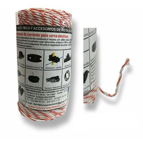 hilo electro plástico trenzado cerco eelctrico ganadero 2mm