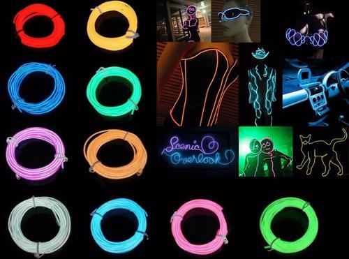 hilo electroluminiscente luminoso el wire neon 3 metros
