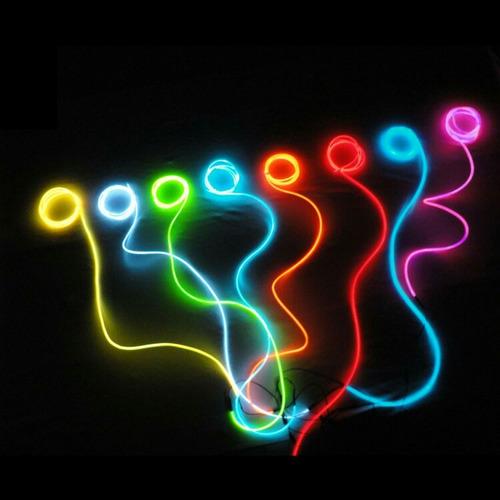 hilo luz led neón 1 metro + pilas
