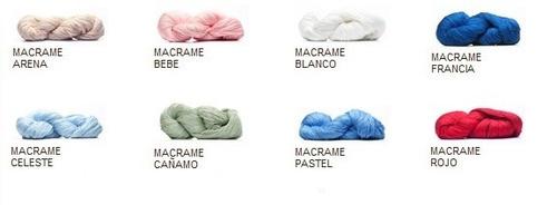 hilo macrame  color x 100 grs