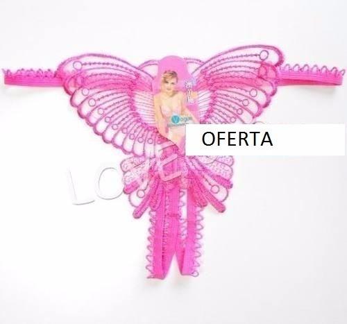 hilo mariposa rosa afrodisiaco erótico sexy t única lencería