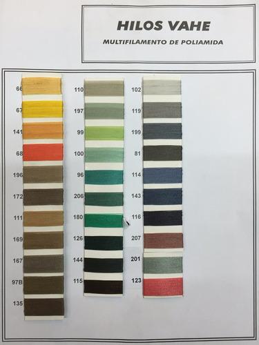 hilo nylon vahe colores 60, 40, 30, 20, 10 - casa siritto