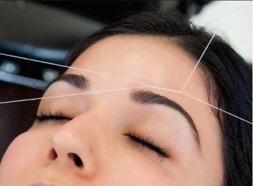 hilo para depilar cejas (combo 4 hilos) 200 metros