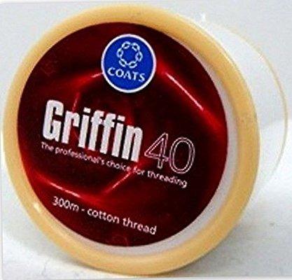 hilo para depilar cejas griffin 40 original 300mtrs algodon