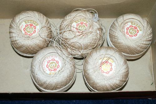 hilo  para tejer crochet marca coats 5 madejas