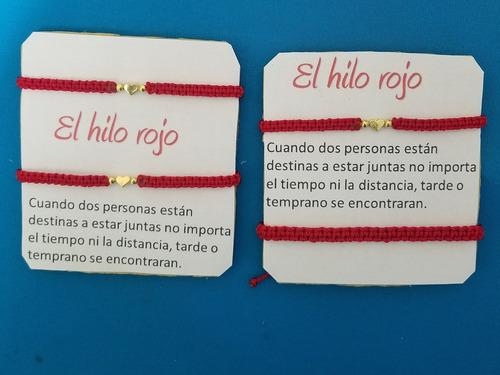 hilo rojo para parejas (pulseras para parejas)