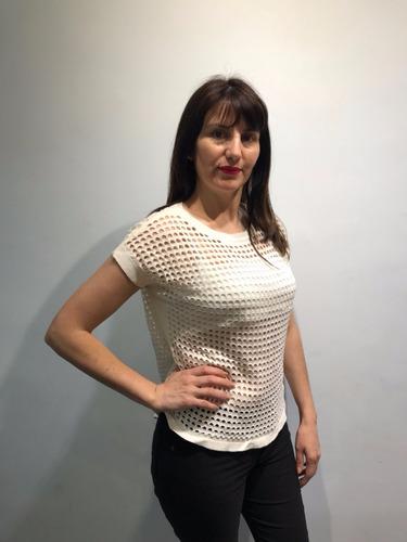 hilo sweater mujer dama lycra manga corta remera