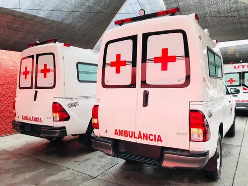 hilux ambulância 4x4 simples remoção - suporte básico