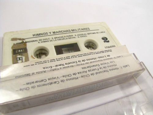 himnos y marchas militares ejercito de chile cassette