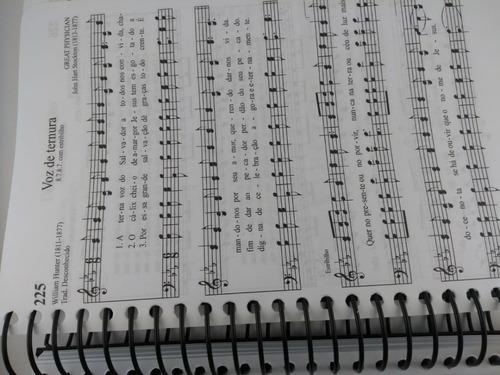 hinário cantor cristão espiral letra grande c/ música preto