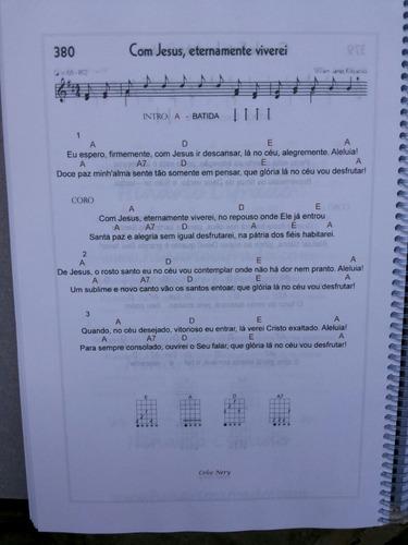 hinário ccb n°5 cifrado para viola caipira  - tamanho grande