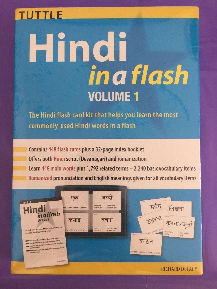 Hindi  Kit Hindu Sánscrito Cards India Idioma Estudio